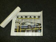 1982 CHEVROLET CAMARO PACE CAR POSTER TOTAL 6- GM- CHEVY- COLLECTOR