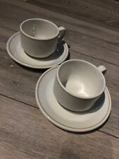 2x Steelite International England Cup And Saucer Ceramic White With Ring