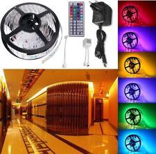 5M RGB LED Luce Striscia Corda KIT 5050 IMPERMEABILE Multi Colore Controller UK Plug