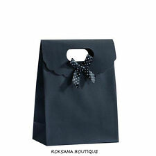 5 pochettes cadeau sacs boites sachets bijoux nœud emballage noir 12 x6x 16 cm