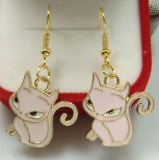 """Simple Drop Elegant Women Earring DyK9 925 Silver Plated Hook -2.1""""cat Animals"""