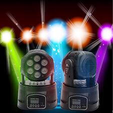 100W RGBW 7x10W LED Moving Head Light DMX-512 DJ XMAS Disco Stage Party Lig