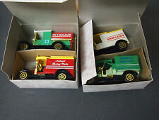 Collectors set of 4 classic trucks from 1910-Water Wagon, Delivery Van, Model T