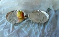 Birks sterling silver antique Georgian style shell shaped 2 x dish bowl 965 gr
