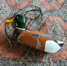 Vintage Wooden Mallard Duck Decoy Phone  by::Telemania