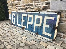 Panneau de gare ferroviaire Gileppe émaillé