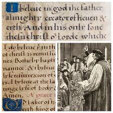 1505 Pre Coverdale Tyndale English Bible Reformation Manuscript Vellum Rare
