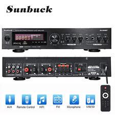 2000W Bluetooth 5.0 HiFi Verstärker Vollverstärker Stereo 2 Kanal Digital FM USB