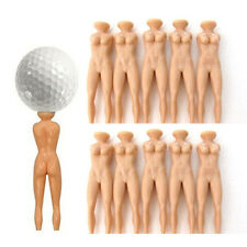 Pack Of 10 Nude Lady Golf Tees - Novelty Strip Teez Figure Tee Ball Marker Hot