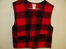 NEW AVON Style Girls Fleece Vest Red Black Plaid Size Medium 8-10 Soft and Warm!