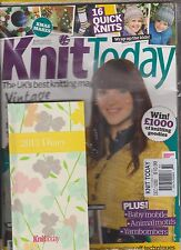 KNIT TODAY The UK's Best Knitting Magazine #80 Dec 2012 +FREE 2013 Diary, SEALED