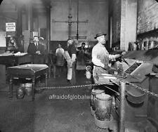 Old Photo. San Francisco Mint. Workers - Melting Furnaces