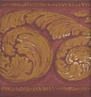 Wallpaper Border Gold Acanthus Scroll On Burgundy Faux