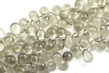 50 Black Dia Czech Glass Tear Drop Beads 8MM