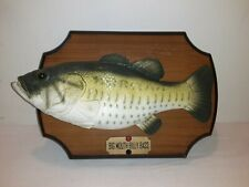 Vtg 1999 Big Mouth Billy Bass Fish Wall Plaque Stand Sings Songs