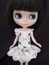 Blythe Doll Outfit owl Print Lace Dress