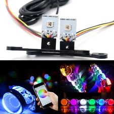 RGB Devil Eye Car Headlight Kit LED Light Backlit Bulbs Multicolor Blueteeth APP