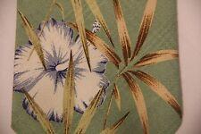 Tommy Bahama Tie Handmade Blue Green Tropical Island Paradise Flowers NEW w/tag