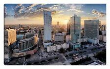 Quadro moderno VARSAVIA polonia vistola skyline foto artistica alba 100X150