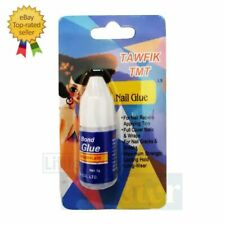 TOP STRONG FALSE NAIL GLUE ✅ CLEAR 10 g With Brush On ✅Art Tips Acrylic UK STOCK