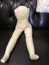 """Large Antique Cloth Doll Body For China Or Parian Doll - 17 """" Long"""