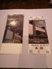 Montreal Canadiens 1995 LAST YEAR AT MONTREAL FORUM TICKET STUB MONTREAL FORUM