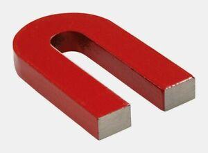 Master Magnetics 2.375 in. AlNiCo HORSESHOE MAGNET Red 3 lb. Pull 1 pk 07225 NEW
