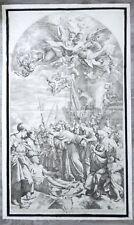 1690 G.A. Lorenzini - Pasinelli GRANDE Stampa S. ANTONIO PADOVA Antica Originale