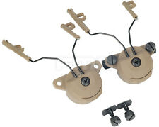 FMA EX Headset Helmet Rail Adapter Set Suitable for Comtac I/II headphones DE