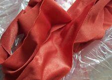 Nylon Lycra Spandex BINDING 1-1/2 in. RUST Orange Spice 5 yds Tape Straight Cut