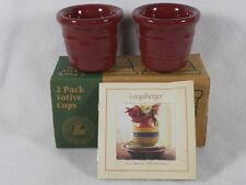 2 Beautiful New Paprika Longaberger Votive Cups , Nib, #30972