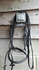 Black Leather HKM Flash Bridle Cob