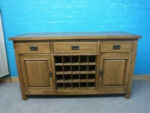 DOVETAILED LARGE RUSTIC SOLID OAK CHUKNY 2DOOR 3DRAWER SIDEBOARD 90x160 SEE SHOP