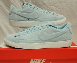 NIKE BLAZER LOW SD TRAINERS ICE BLUE WHITE AA3962-402 SIZE 8.5 EUR 43 RRP £80.00
