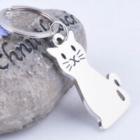 Cute Kitty Cat Metal Car Keychain Keyring Chain Gift D3O5