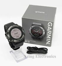 Garmin Fenix 5X Slate Gray Sapphire Black Band GPS Multisport Watch