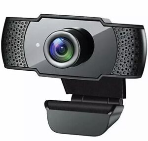 Webcam with Microphone, 1080P HD Streaming USB Computer Webcam [Plug and Play]