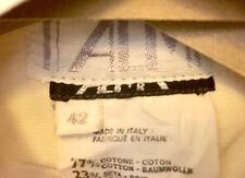 Alma Italian Couture 2 Piece Ivory Wedding Dress, Silk Blend LS, Sz 8 - REDUCED!