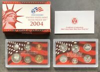 USA 2004 SILBER Proof Set San Francisco PP polierte Platte State Quarter 1c-$1