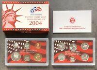 USA 2004 SILBER Proof Set San Francisco PP polierte Platte State Quarter 1c-$1