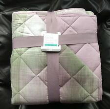 Next Quilted Pink & Green Check Throw  260cm×260cm (New) RRP £75