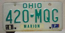 1988 Ohio License Plate 420 Marijuana Weed Grass Herb Pot Bud Vintage 420 MQG