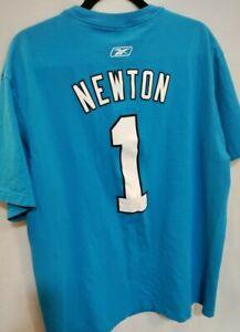 Carolina Panthers NFL Short Sleeve T-Shirt Men's Size XXL 2XL Blue Newton #1