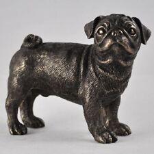 More details for bronze effect pug sculpture dog statue home ornament figurine