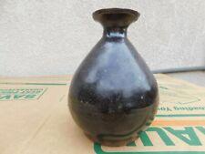 Antique Chinese Republic Dark Brown Mono Glaze Wine Bottle