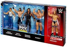 WWE 5 FIGURES PACK ROMAN REIGNS,DEAN AMBROSE,SETH ROLLINS,RUSEV,CESARO KMART NEW