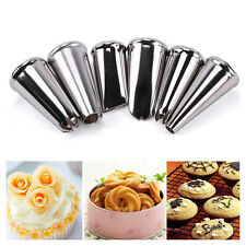 Cake Icing Piping Nozzles Tips Fondant Cupcake Sugarcraft Decorating 6pcs /set S