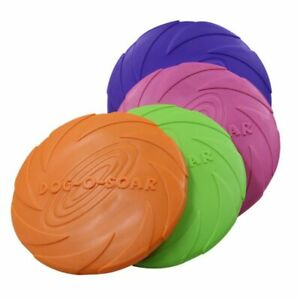 Chew Interactive Dog Toy Pet Bite Resistance Frisbee Flying Disk 4 Color 15-22cm