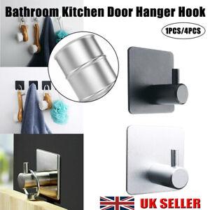 Towel Self-Adhesive Stick Wall Hanger Hook No Trace Bathroom Kitchen Door Hanger