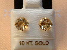 Exclusive Citrin Ohrstecker - 2,2 ct. - 10 Kt. Gold - 417 - Brillant Schliff TOP